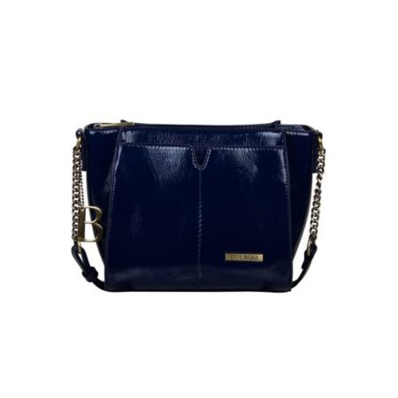 Bulaggi Lily Navy Patent Crossbody Bag