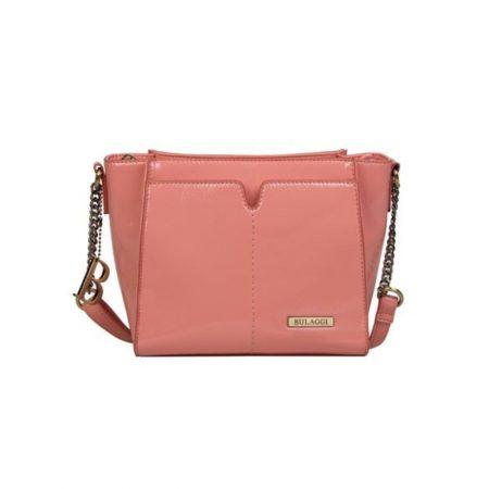 Bulaggi Lily Peach Patent Crossbody Bag