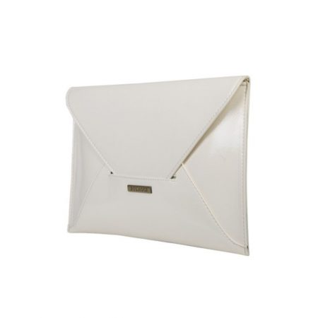 Bulaggi Isabella White Patent Clutch Bag