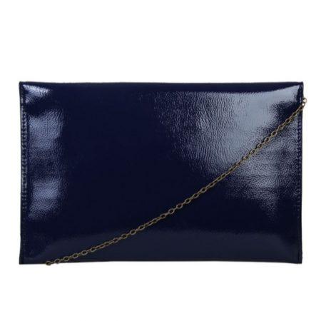 Bulaggi Isabella Navy Patent Clutch Bag