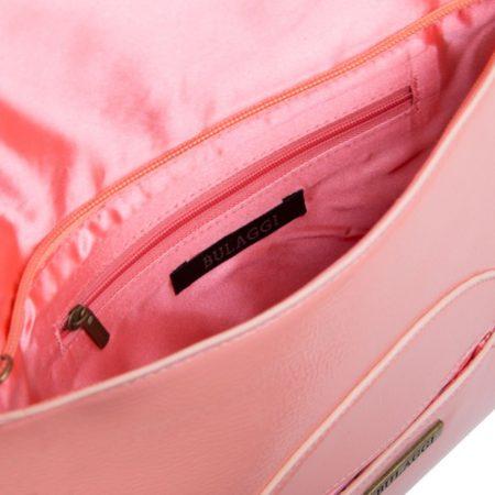 Bulaggi Isabella Peach Patent Clutch Bag
