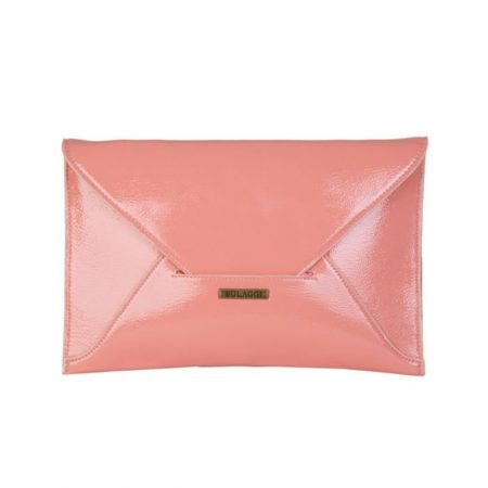 Bulaggi Isabella Peach Patent Clutch Bag
