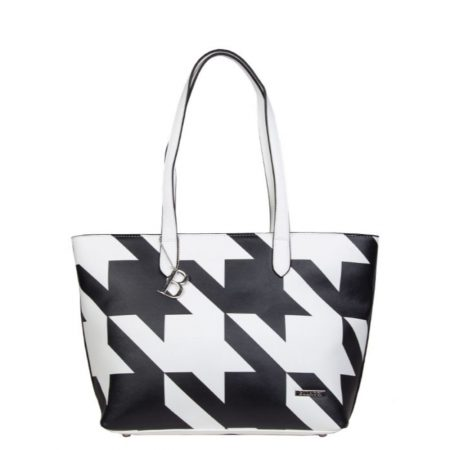 Bulaggi Sissy Black Houndstooth Tote Bag
