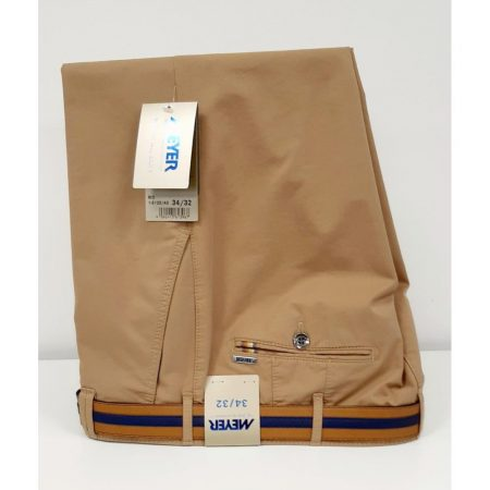 Meyer caramel Rio cotton trousers