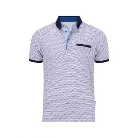 Giordano white patterned polo shirt
