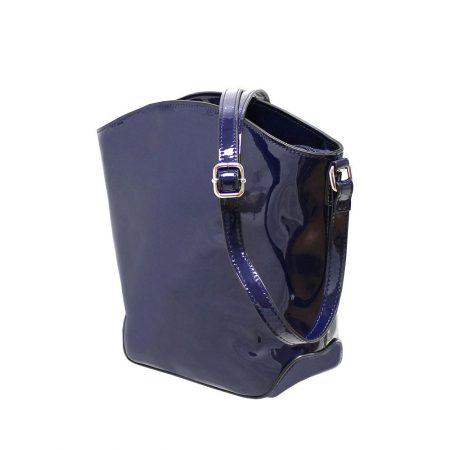 Envy Navy Patent Shoulder Bag