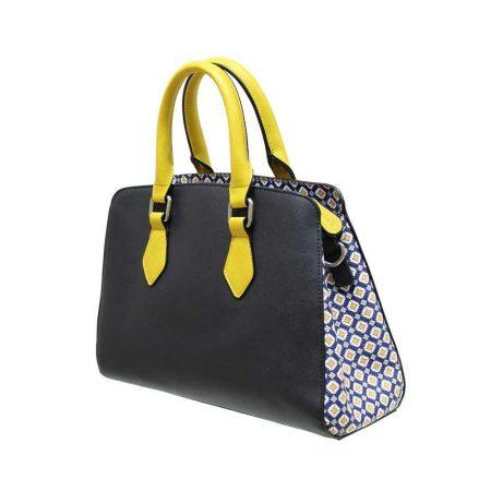 Envy Navy Mustard Medium Handbag