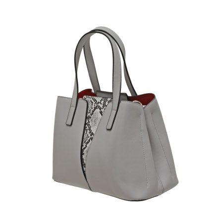 Envy Grey Snake Print Handbag