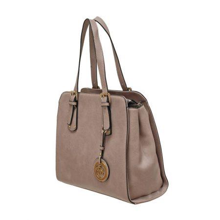 Envy Mink Structured Medium Handbag