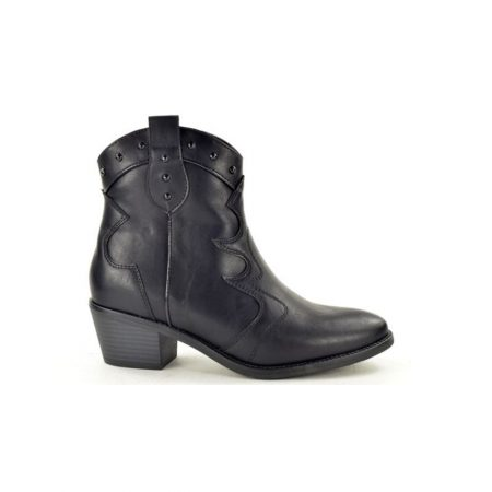 Fabs Black Western Ankle Boots