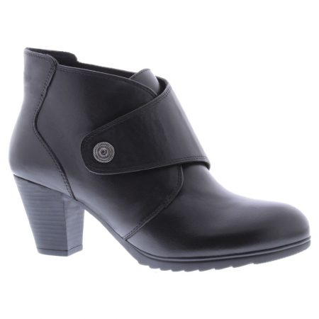 Adesso Louise Black Leather Heeled Boots