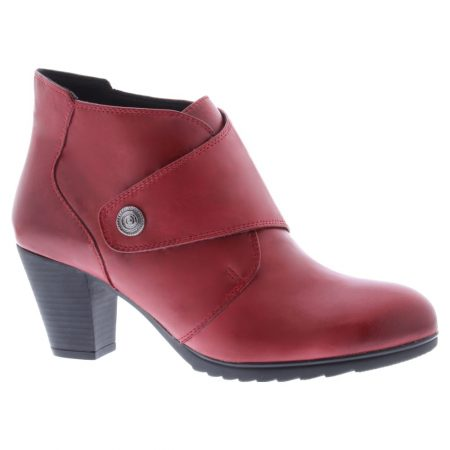 Adesso Louise Red Leather Heeled Boots