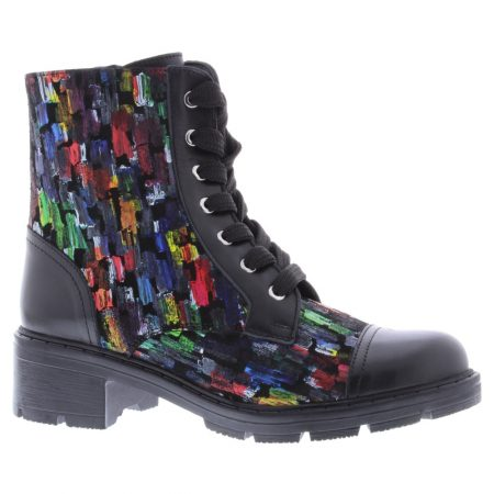 Adesso Lydia Black Statement Ankle Boots