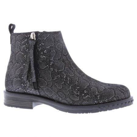 Adesso Mya Grey Snake Ankle Boots