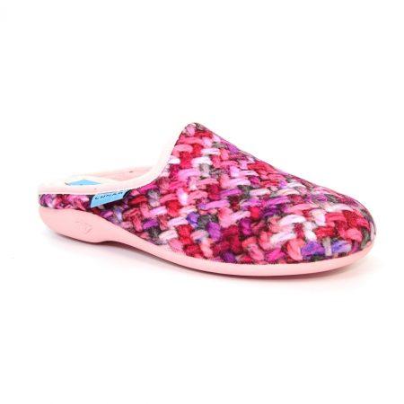 Lunar Jasmine Pink Print Mule Slippers