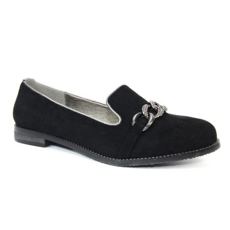 Lunar Splendid Black Chain Loafers