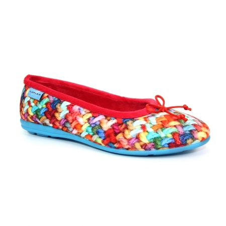 Lunar Swizzle Red Print Full Slippers