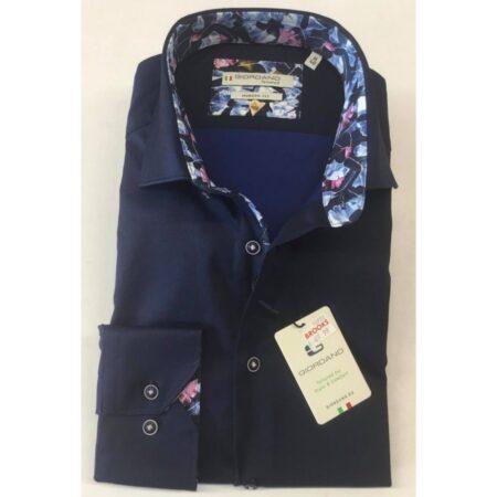 Giordano Dark Blue Long Sleeve Shirt