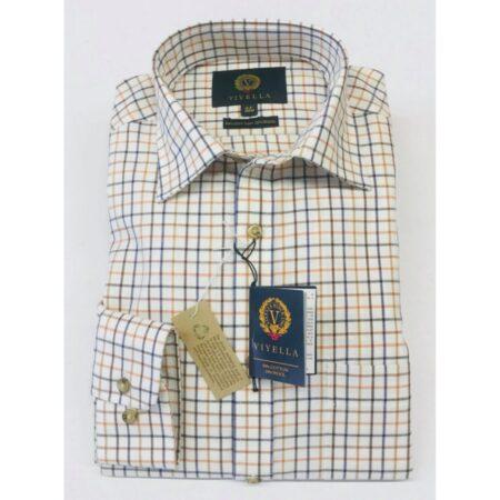 Viyella Cream Check Long Sleeve Shirt