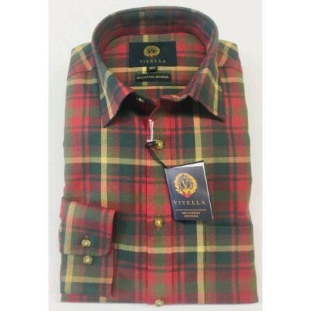 Viyella Tartan Long Sleeve Shirt