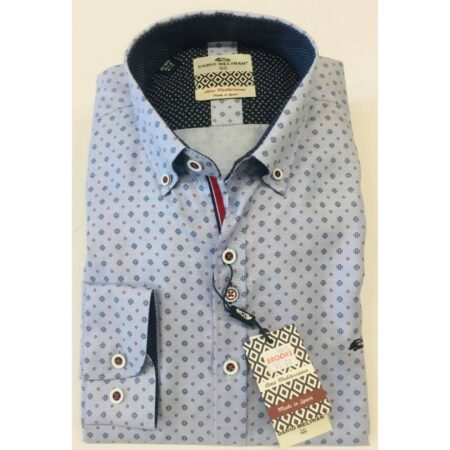 Dario Beltran Blue Long Sleeve Shirt