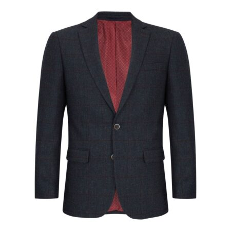 Daniel Grahame Navy Check Dress Jacket