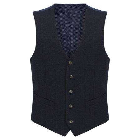 Daniel Grahame Navy Wool Waistcoat