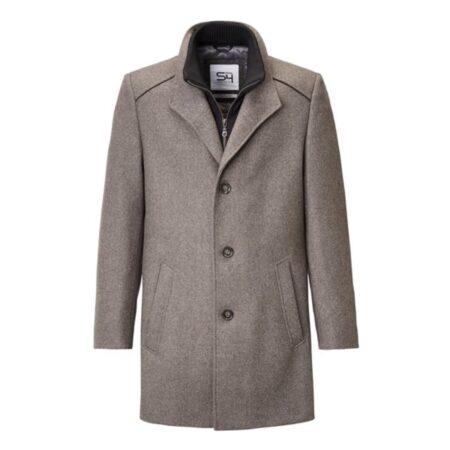 S4 Brown Wool Winter Coat