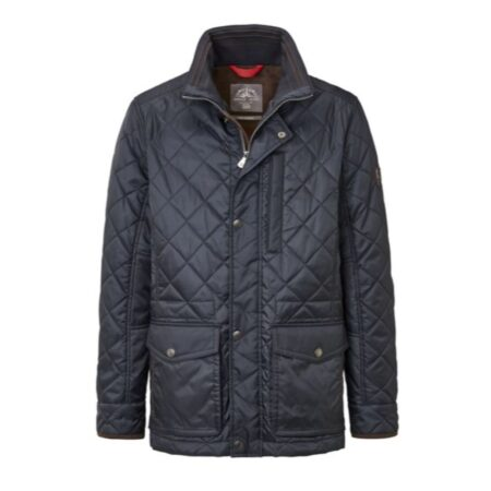 S4 Navy Casual Quilted Jacket