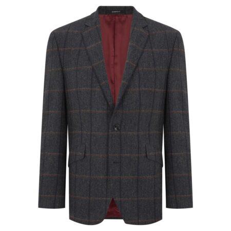 Douglas Gold Grey Wool Dress Jacket