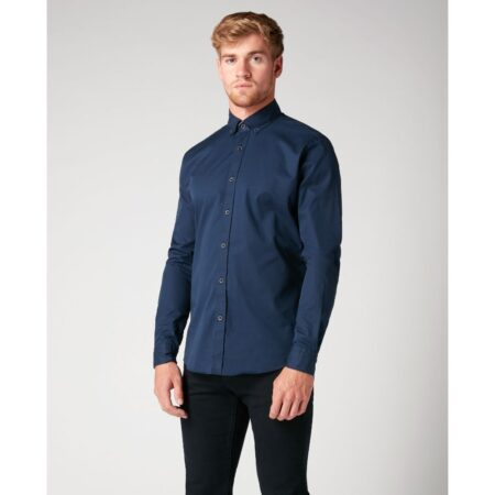 Remus Uomo Navy Tapered Shirt