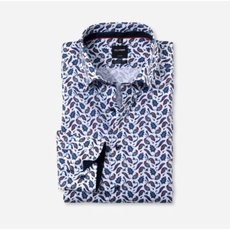 Olymp patterned shirt with trim