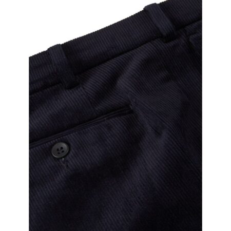 DG Merit Stretch Cords Navy Cotton with lycra mix, Belted trouser, flat fronts, two hip pockets, knee lined, plain fronts, stretch waistband Style code 76383-78  DG Merit Stretch Cords Navy