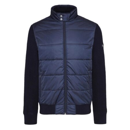 Bugatti Navy Casual Knit Jacket
