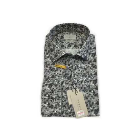 Bugatti Grey Floral Long Sleeve Shirt