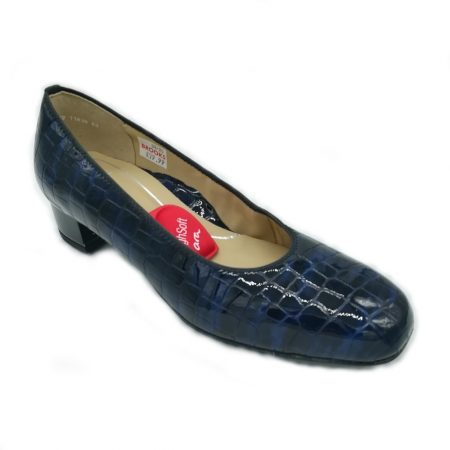 Ara Graz Midnight Blue Leather Shoes