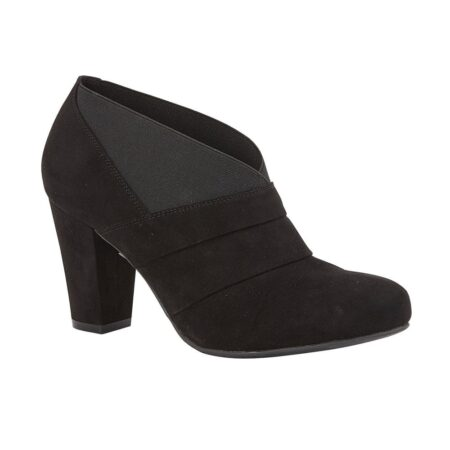 Lotus Aurora Black Heeled Shoe Boots