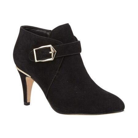 Lotus Summer Black Heeled Shoe Boots