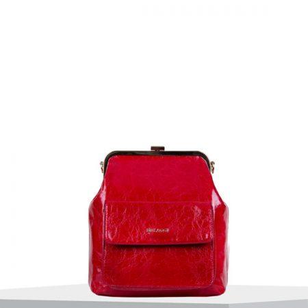 Bulaggi Valentine Red Crinkle Patent Handbag
