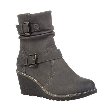 Lotus Pheobe Grey Wedge Boots