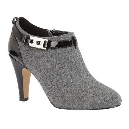 Lotus Vicki Grey Heeled Shoe Boots