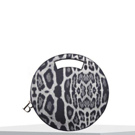 Bulaggi Leo Black Leopard Circle Bag