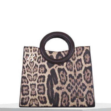 Bulaggi Leo Brown Leopard Print Handbag