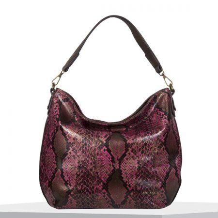 Bulaggi Protea Fuchsia Snake Print Handbag