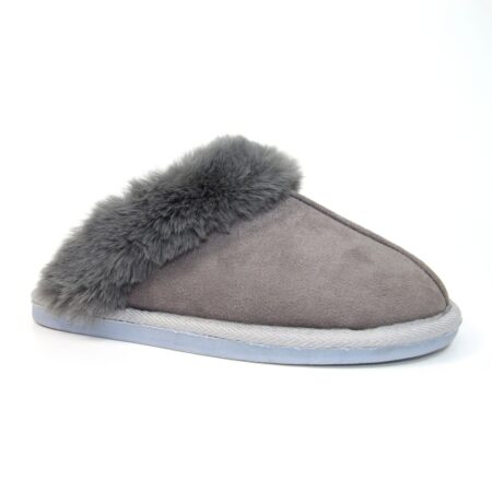 Lunar Margarita Grey Mule Slippers