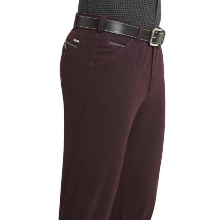 Meyer Burgundy Chicago Cotton Trousers