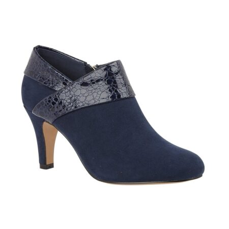 Lotus Angela Navy Heeled Shoe Boots