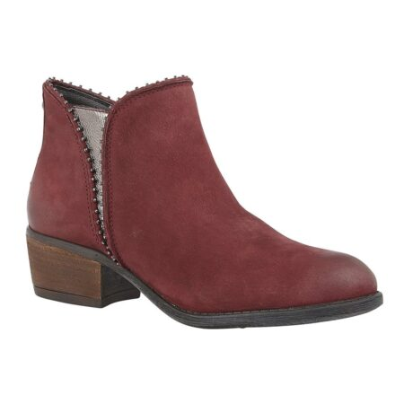 Lotus Benny Red Leather Ankle Boots