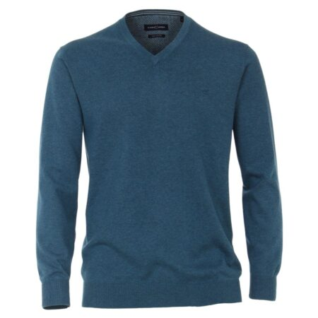 Casa Moda Blue V Neck Sweater