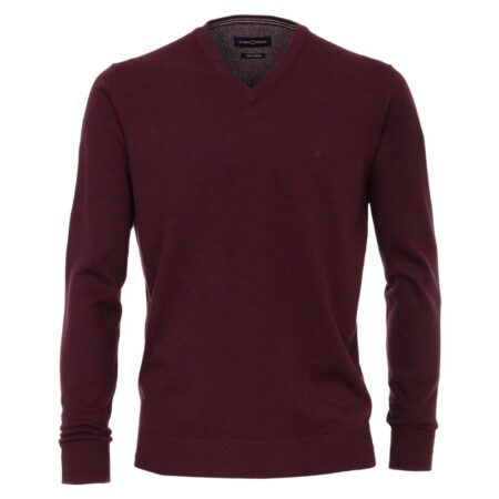 Casa Moda Burgundy V Neck Sweater